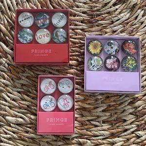 Fringe Glass Magnet Sets - 3 sets included